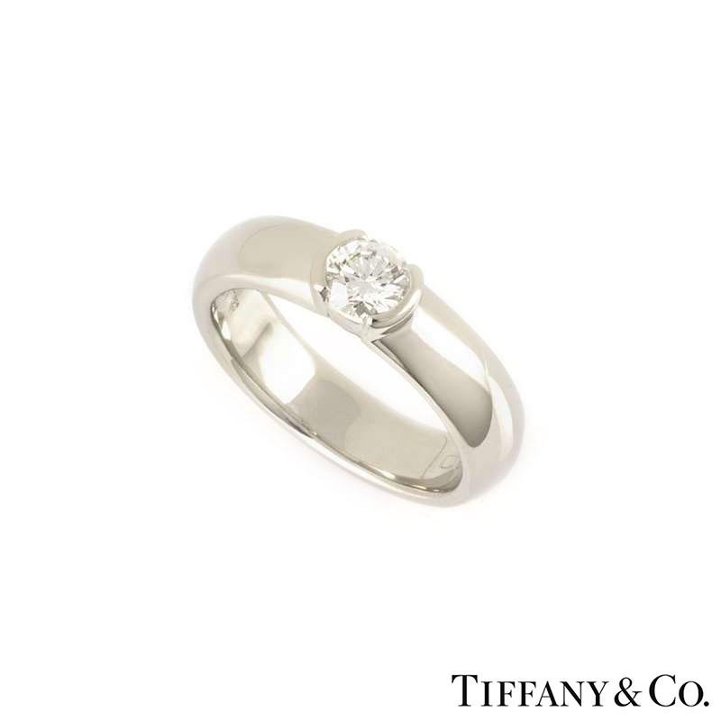 Tiffany & Co. Diamond Etoile Ring in Platinum 0.40ct G/VVS2